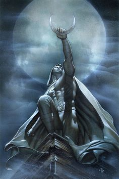 Moon Knight Art by Adi Granov Moon Knight Movie, Marvel Moon Knight, Comic Books Art, Comic Art, Book Art, Comic Pics, Adi Granov, Xmen Apocalypse, Knight Art