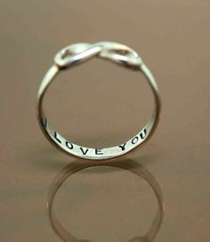 Infinity I love you ring. I love this so so so much!