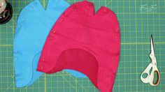 Fleece Hat with Ear Flaps Pattern (free) with tutorial ♥ Fleece Fun Fleece Hat Pattern, Fleece Patterns, Hat Patterns To Sew, Sewing Patterns Free, Free Pattern, Crochet Baby Boy Hat, Sewing Essentials, Flap Hat, Fleece Hats