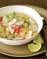 chicken posole. healthy, yet scrumtrulescent. i encourage adding jalapenos and some Frank's Red Hot.