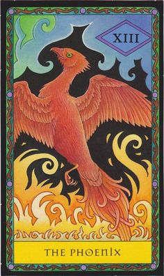 "The Phoenix (Death) from the ""22 Fortune Telling Cards"" tarot. Art by Kipling West."