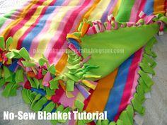 no sew blanket tutorial