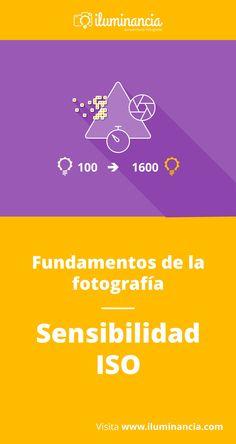 Sensibilidad ISO: en la actualidad, son los valores usados en la fotografía digital para indicar la sensibilidad de los sensores. Representan la cantidad de luz que los sensores pueden captar. El principio, en la era digital, es como antes con la películas de rollo: valor ISO bajo, menos sensibilidad, menos ruido (en vez de grano)...