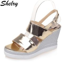 Cheap sandals for, Buy Quality wide sandals directly from China platform wedge sandals Suppliers: women sandals 2017 high platform wedge sandals sexy gladiator summer shoes gold silver double wide sandals for women