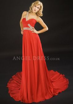 One Shoulder A line Chiffon Zipper Back Floor Length Sleeveless Evening Dress