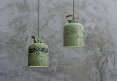 Stoere lamp van hergebruikte materialen