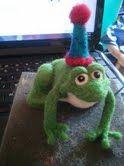 Birthday Frog....Needle Felted