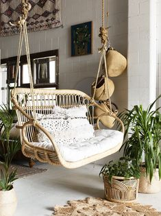 Adorable Rattan Hanging Chair Design Ideas - Home Design - lmolnar - Best Design and Decoration You Need Hanging Furniture, Rattan Furniture, Furniture Design, Hanging Chairs, Furniture Ideas, Barbie Furniture, Garden Furniture, Outdoor Hanging Chair, Chair Design