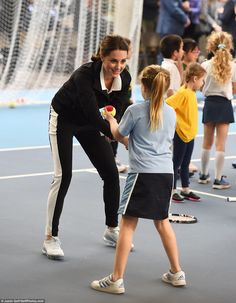Keen tennis fan Kate was delighted to get involved in a coaching session on her first solo...