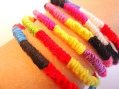 Solid Color Friendship Bracelet One Bracelet