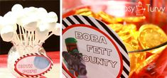 oreo balls,  covered them in white chocolate.  chocolate gold coins for Boba Fett Bounty