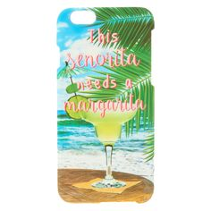 "<P>Beautiful tropical phone case for iPhone®s. Features a margarita and reads ""This senorita needs a margarita."" </P><UL><LI>Soft touch <LI><STRONG>Currently only fits iPhone® 6/6s</STRONG></LI><LI>Apple Inc. is not responsible for this product. iPhone®, iPod®, iPad® and MacBook® are registered trademarks of Apple Inc...."
