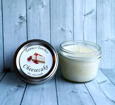 Scented Candles 8oz Soy Candle in Cheesecake by TaniasTorches