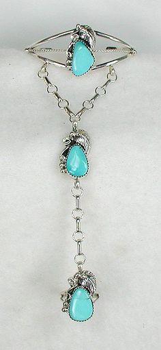 Native American Slave Bracelet | Authentic Native American Navajo Indian Turquoise Slave Bracelet