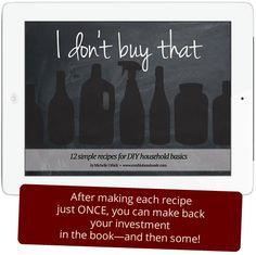 Save money, reduce waste & eliminate harmful ingredients > 12 (crazy easy) DIY household recipes including cleaning products, body care and pantry staples. Use the coupon code POLLUTIONSUCKS to get the ebook for just $5!