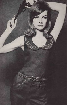Jean Shrimpton photographed by David Bailey for Vogue, 1964.