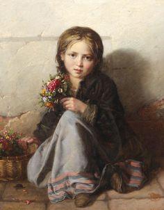 Nikolay Efimovich Rachkov Portret devochki