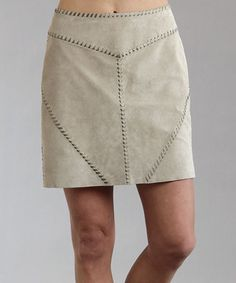 This Stetson Beige Suede Pencil Skirt - Women by Stetson is perfect! #zulilyfinds