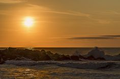 A sunrise from the shore at Belmar, NJ.
