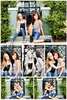 BFF sessions and sister poses Friend Senior Pictures, Sister Pictures, Best Friend Pictures, Friend Photos, Bff Pics, Senior Photos, Best Friends Shoot, Best Friend Poses, Best Friends Sister
