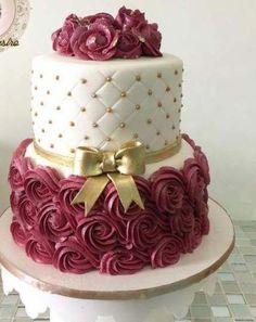 65 Ideas for cake birthday elegant design fondant - Cake Decorating Dıy Ideen Elegant Birthday Cakes, New Birthday Cake, Birthday Cakes For Women, Birthday Cupcakes, Birthday Cake For Women Elegant, Adult Birthday Cakes, Birthday Kids, Pink Birthday, Birthday Woman