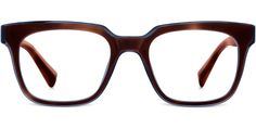 Eyeglasses - Winston in Cognac Tortoise with Pacific Crystal