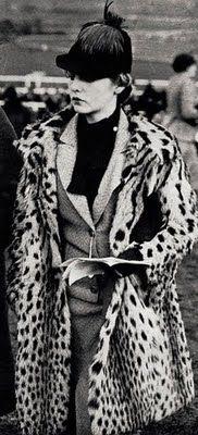 Deborah Mitford - c. 1936 - Leopard print coat - Royal Ascot #VDJfashion #racefashion #accessories #hats #ascot