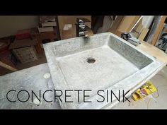Creating a Custom Concrete Sink Mold out of MDF - GFRC - Glass Fiber Reinforced Concrete Concrete Sink Molds, Making Concrete Countertops, Concrete Sealer, Diy Concrete Planters, Concrete Kitchen, Epoxy Countertop, Concrete Projects, Diy Outdoor Kitchen, Farm Sink