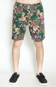 Diamond Eagle Shorts by Crooks & Castles at MOOSE Limited