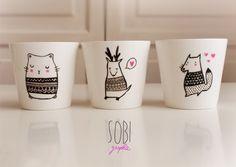 make homemade mugs - by Sobi ♥