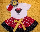 Disney outfit onesie Minnie Mickey Mouse 1st Birthday little man big brother twins sister boy size 3 6 9 12 18 months 2t 3t 4t 5 6. $65.50, via Etsy.