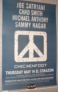 Chickenfoot Joe Satriani  Poster Concert $9.84