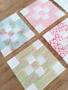Carried Away Quilting: Souvenir of Friendship quilt blocks for 2017 Patchwork Quilt Along with Fat Quarter Shop. Benefits Make-A-Wish Foundation. Fabric: Fleurs by Brenda Riddle for Moda. #showmethemoda