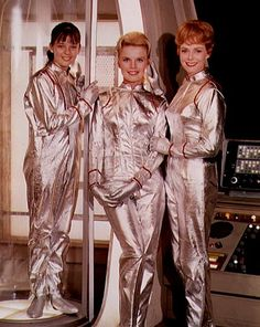 """Lost in Space"" (1965-68)  Angela Cartwright as Penny Robinson,  Marta Kristen as Judy Robinson,  June Lockhart as Maureen Robinson"