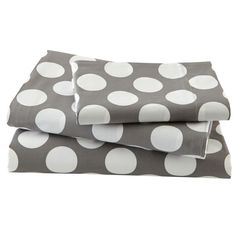 Shop Organic New School Grey and White Dot Twin Sheet Set. Our modern New School Sheet Sets feature white polka dots on either a grey, blue, pink or yellow background. Made of 100% comfy organic cotton, they're available in twin, full and queen.