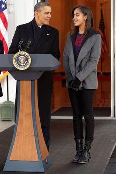 President Obama and daughter Malia