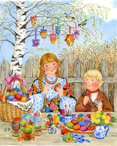 Solve Coloring Easter eggs jigsaw puzzle online with 130 pieces