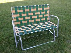 Aluminum Web Lawn Chairs Exercise Using Chair 24 Best Webbed Images Deck Garden Vtg Patio Porch Rocker Glider Double Love Seat