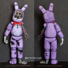 Withered Bonnie Polymer Clay Figurine from Five by ArtzieRush