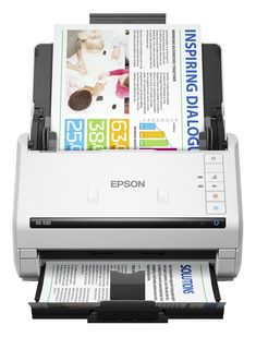 Epson DS-530 Color Duplex Document Scanner for PC and Mac, Sheet-fed, Auto Document Feeder (ADF). Fast scan speeds, from a leader in image capturing technology - up to 35 ppm/70 ipm; one-pass duplex scanning. Seamless compatibility with document management systems - includes TWAIN and ISIS drivers for easy integration with existing software. Scan directly to online storage accounts - intuitively scan to Dropbox, SharePoint, Evernote, FileBound, Google Drive and more. World-class…