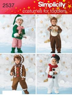 Simplicity Sewing Pattern 2537 Toddler Costumes, A (1/2-1-2-3-4) Simplicity Patterns