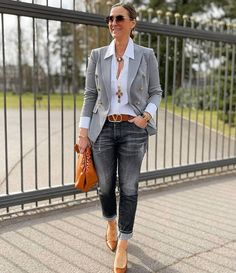 Moda Outfits, Blazer Outfits, Casual Fall Outfits, Classy Outfits, Stylish Outfits, Look Fashion, Winter Fashion, Fashion Outfits, Womens Fashion