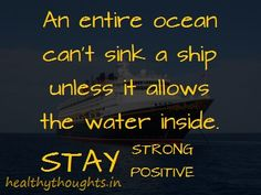 ships don't sink because of the water around them - Google Search