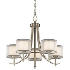 Hampton Bay 5-Light Antique Pewter Ceiling Chandelier-89565 at The Home Depot