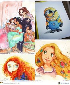 Forget the princess stuff,LOVE THE MINION DRAWING!!!!!!:)