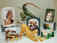 Jeweled trinket boxes and photo frames