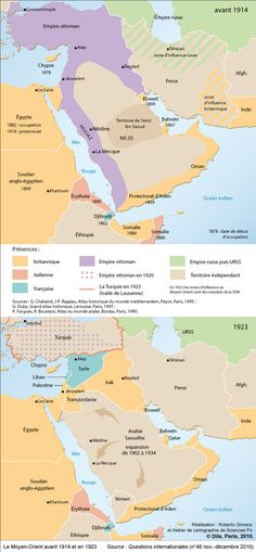 Middle East before 1914 and in 1923