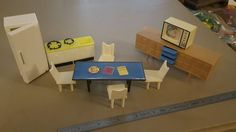 Lot of Vintage Plastic Doll House Furniture