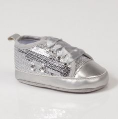 Glitter Lace Sneaker. Too cute!