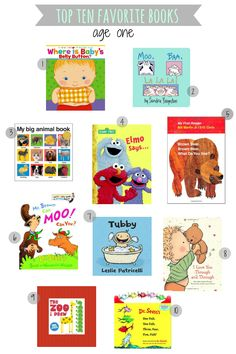 Top ten books for one year olds